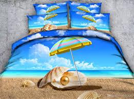 beach bedding 3d ocean printed bedding sets twin full queen king size duvet covers pillow shams comforter blue bedspreads teens girls s twin
