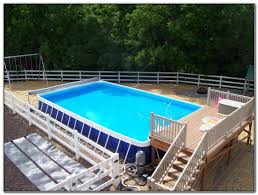 Wooden Pool Decks Above Ground Wooden Pool Deck Kits Decks Home Decorating Ideas