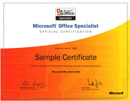 Microsoft Office Training Certificate Microsoft Certificate Template Magdalene Project Org