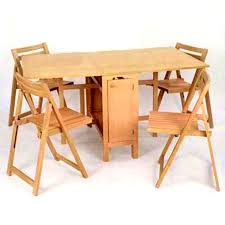 Table With Hidden Chairs Drop Leaf Table With Chair Storage Arlene Designs