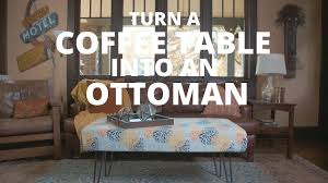 turn a coffee table into an ottoman diy network
