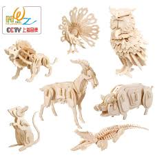 <b>Children's Puzzles</b> toy early education animal model wooden ...