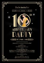 1920s themed flyer dbwc event capital club 10th anniversary