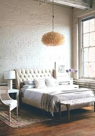 white brick wall bedroom ideas