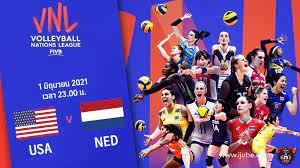 ถ่ายทอดสด วอลเลย์บอลหญิง เนชันส์ลีก 2021 สหรัฐอเมริกา vs เนเธอร์แลนด์ Full  HD