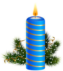 Blue Christmas Candle PNG Clipart Image | Gallery Yopriceville ...