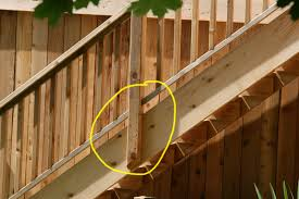 deck railing stairs