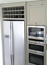 refrigerator racks. wine rack: built rack above refrigerator shelf fridge racks