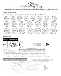 Stella And Dot Clothing Size Chart Ice Ring Sizer Printable Ring Size Chart Find Your Ring