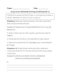 Englishlinx.com   Conjunctions Worksheets