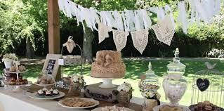 Dessert Table from a Vintage Shabby Chic Wedding via Kara's Party Ideas |  KarasPartyIdeas.com