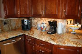 golden crystal granite kitchen countertop finished installed granix 1