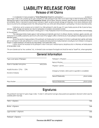 General Liability Waiver Form Product Liability Template Invitation Templates liability 1