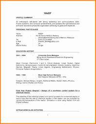Sample Resume For Mechanical Engineer Fresh Graduate Sample Resume For A Fresh Graduate Luxury Alluring Resume For 19