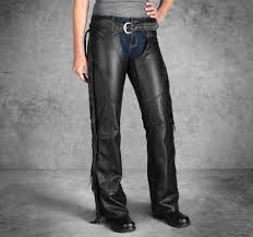 h d motorclothes harley davidson women s leather chaps boone fringed 98012