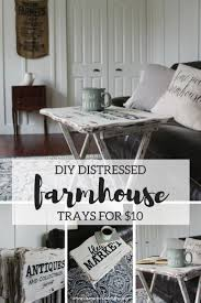 I gave these thrift-store folding trays a chippy, farmhouse-style ...