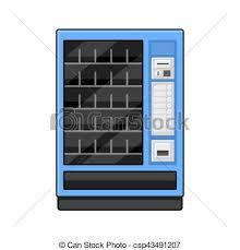 Blank Vending Machine Impressive Blue Vending Machine On White Background Vector Illustration
