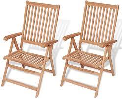 LETING vidaXL Reclining Garden Chairs 2 pcs Solid ... - Amazon.com