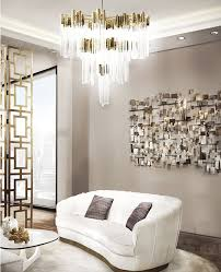 contemporary chandelier crystal brass led burj