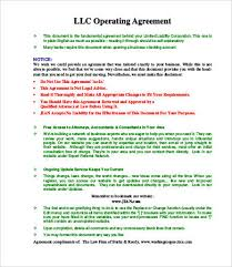 template for llc operating agreement operating agreement llc template free operating agreement template 8