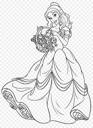 Kleurplaten Disney Prinses Belle