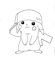 pikachu coloring pages to print color page mega printable ash and