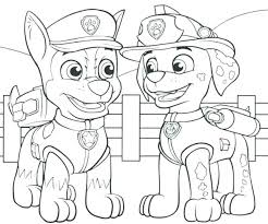 Paw Patrol Coloring Sheets With Paw Patrol Coloring Pages Paw Patrol