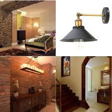industrial loft lighting. Kiven Metal Wall Sconce 1 Light Fixture E26 UL Certification Plug-In Button Switch Cord Lighting Vintage Industrial Loft Style Lamp Bulbs Included, S
