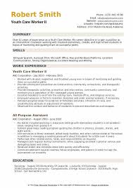 Care Worker Resume Youth Care Worker Resume Samples Qwikresume