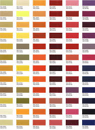 Ral Chart Download Colour Selection Hudson