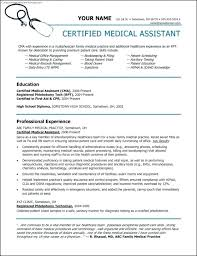 Certified Medical Assistant Resume Stunning Medical Assistant Resume Template Free Sample Medical Assistant