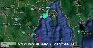 The quake had a depth of 10 kilometers, it said. Quake Info Moderate Mag 5 1 Earthquake Philippines Sea 12 Km North Of Santa Maria Davao Occidental Philippines On Sunday 30 August 2020 At 17 44 Gmt 59 User Experience Reports Volcanodiscovery