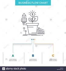 Financial Flow Chart Finance Financial Growth Money Profit Business Flow