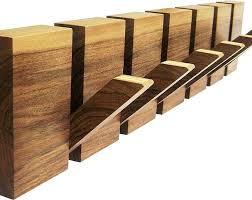 wooden wall coat rack hanger 4 hooks wood art en 6 crochets al x