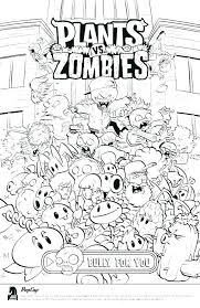 Plants Vs Zombies Coloring Pages Zombie Coloring Pages Pdf Plants Vs