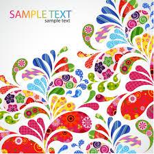 Free Vector Design Eps Free Design Patterns Colorful Floral Design Vector Eps