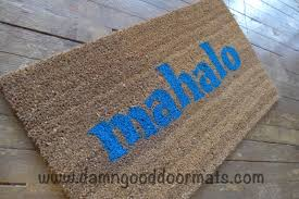 Aloha Tiki Monsters! This doormat is perfect for your luau or ...