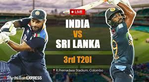 India vs Sri Lanka third T20I Reside ...