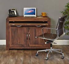 hidden desk furniture. inca solid walnut furniture hidden home office computer pc hideaway desk