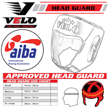 Boxing Head Guard Size Chart Velo Official Aiba Approved Head Guard Pro Leather Cowhide