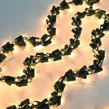 Mini Light Garland Garland String Lights White Lights Green Wire 18 Ft