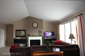 wall colors living room. Dark Tan Living Room Brown Wall Color Square White Fabric Bench Black Low Coffee Table Colors