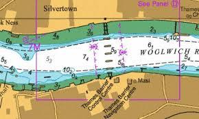 D Thames Tidal Barrier Marine Chart 2484_4 Nautical