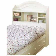 Amazon.com: South Shore Summer Breeze Twin Bookcase Headboard and Storage  Bed in White Wash: Kitchen & Dining