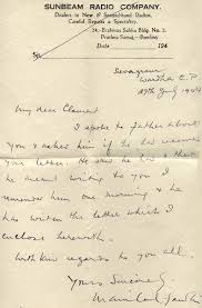 handwritten cover letters handwritten cover letter from manilal gandhi to clement doke about