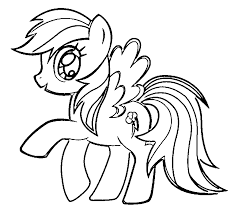 Small Picture My Little Pony Printable Coloring Pages Rainbow Dash Coloring Pages
