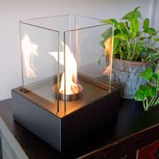 tabletop decorative bio ethanol fireplace in black nf t2laa the home depot