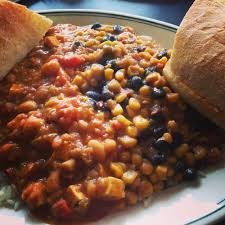 Yats Bread Recipe Half Bb Half White Bean Chilli Tofu With Extra Bread Yelp