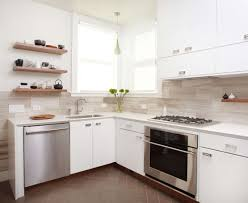 Kitchen For Small Space Best Kitchen Small Space With L Shape Modern Painted Wood Cabinet