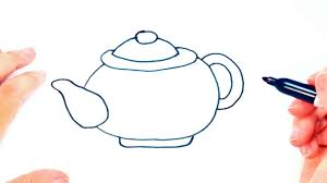 teacup and teapot drawing. Brilliant Teapot How To Draw A Teapot For Kids  Easy Draw Tutorial In Teacup And Drawing T